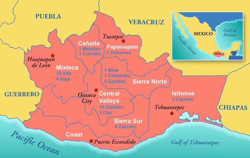 Guajaca Mexico Map.Institute Of Historic Organs Oaxaca Mexico